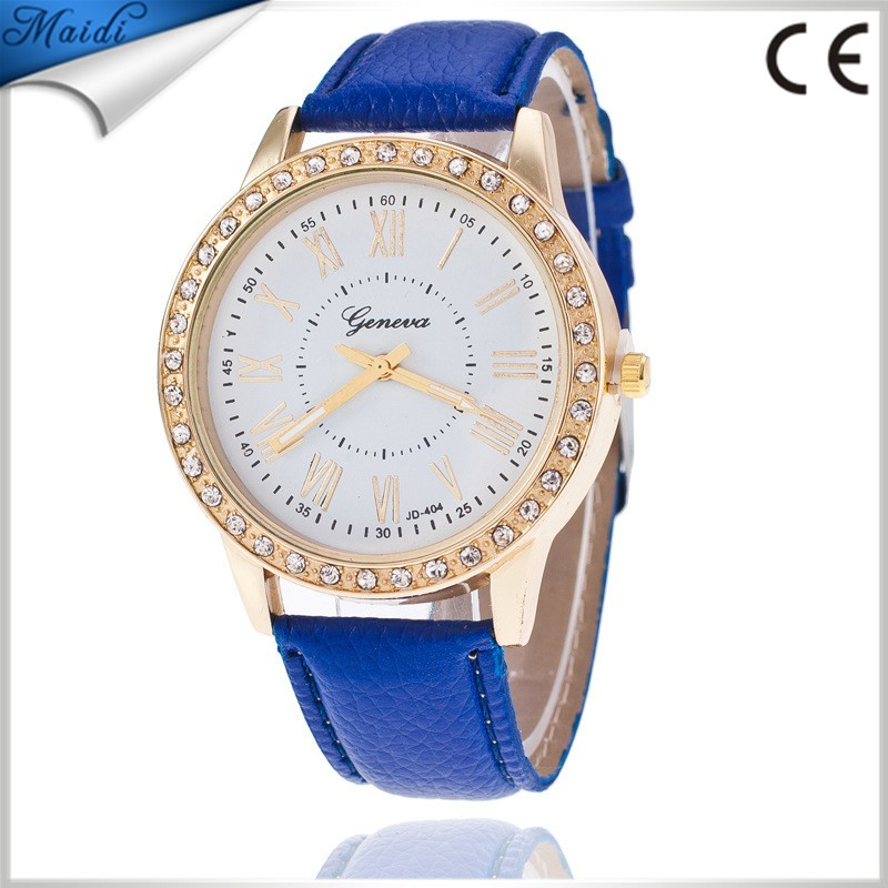Fashion Geneva Men Wristwatch Leather Casual Analog Quartz Watch luxury Women Dress ladies Relojes Clock GW089