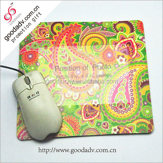 New product custom eva material pp photo frame mouse mat with photo insert