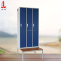 Outdoor Furniture Locker Room Bench Wood Furniture Metal Cabinet Bench