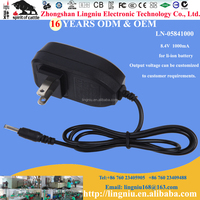 High quality US plug 8.4V universal 18650 lithium battery travel charger