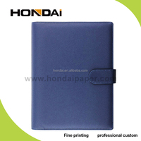 2015 China alibaba wholesale business pu leather planner notebook
