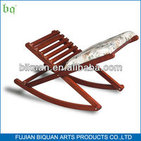 BQ wooden folding rocking foot stool