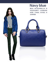 Any color waterproof pu handbag, buy direct from china manufacturer gold zipper high quality woman hand bag