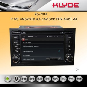 7inch 2din A4 pure android 4.4 Car DVD with capacitive multi touch screen