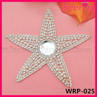 star shape rhinestone applique shoe ornament for shoe WRP-025