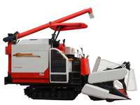 small rice wheat combine harvester for 320 degree