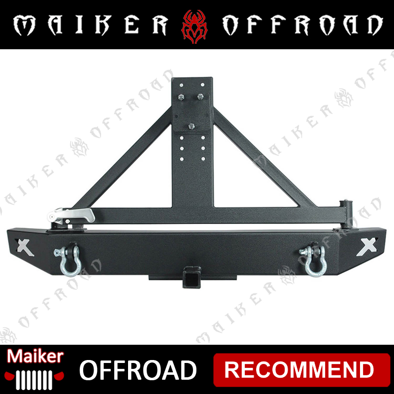 Rear bumper and tire carrier for Jeep Wrangler JK bumper with tire rack