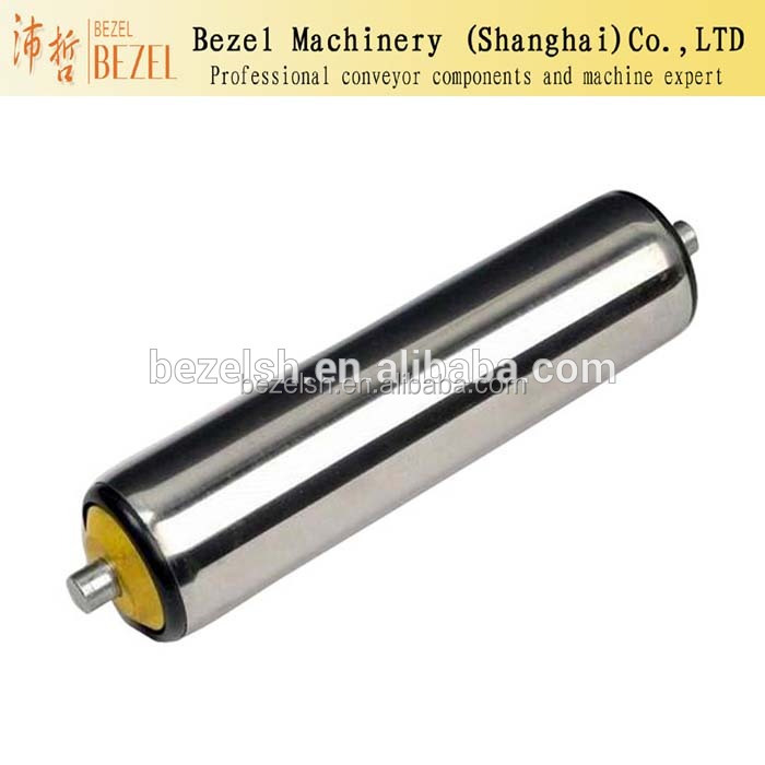 spring loaded free rollers yellow pp end cap conveyor rollers