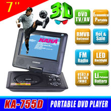 Cheap price 7 inch lcd dvd player with usb port for multi-use