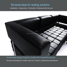 816#Home furniture <strong>modern</strong> living room steel leather sofa
