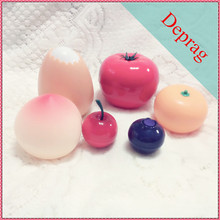 2016 new fruit shape 10ml screw up cherry shape cosmetic containers