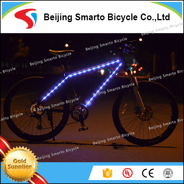 Special mountain bicycle carbon fiber 24 speed LED light bike