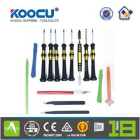KOOCU SW-1090 16 in 1 Opening Repair Tools Set Metal Pry Spudger - PDA, Tablets, Cellphone, electronics & electric products