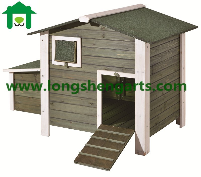waterproof treatment wooden chicken House with run