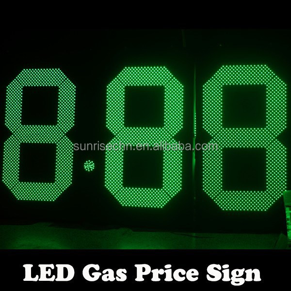 diesel fuel oil led sign 48 inch led oil sign 7 segment 8'' 12'' 16'' 24'' 48'' 60'' 8.888 sing side/double sides