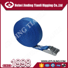 3333lbs working load 2 soft loop tie-down straps 100mm winch strap ratchet tie down with no hook for cargo transportation