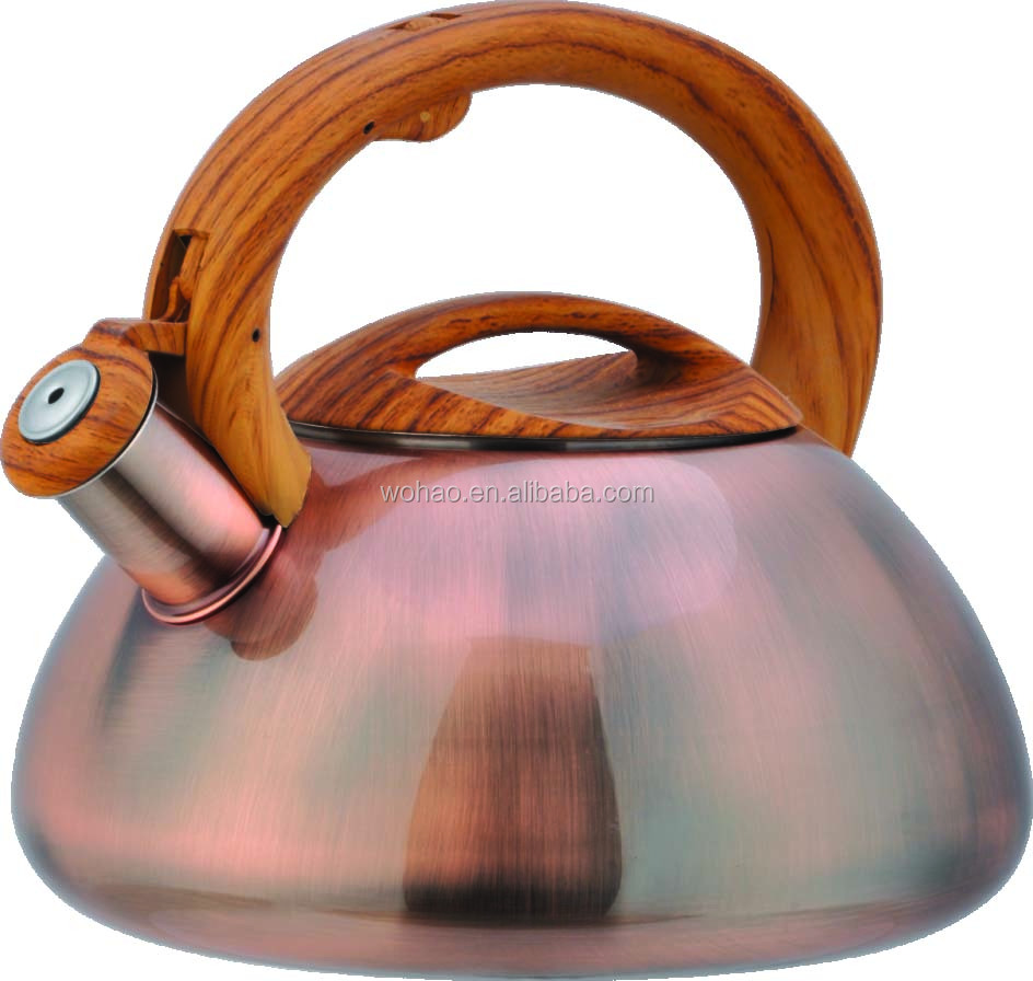 brush cooper stainless steel induction whistling kettle
