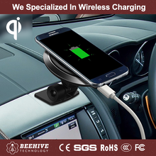 360 Degree Rotation Qi Mobile Car Holder For Mobile Phone With Charging