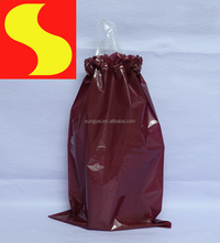 Biodegradable disposable colored drawstring trash bag