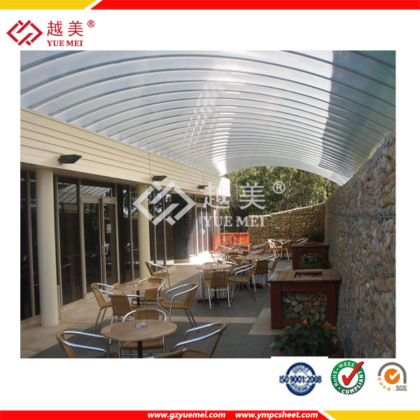 clear plastic polycarbonate hollow sheet for outdoor awnings and canopies
