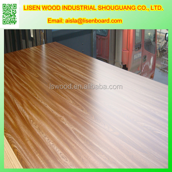 Red OAK Veneer MDF Boards,Melamine Coated MDF Boards Wood Panel Board