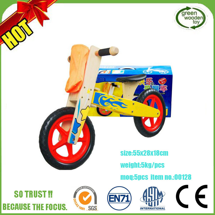 Hot Sale Kids Wooden Balance Bike,Popular Children Wooden Bike