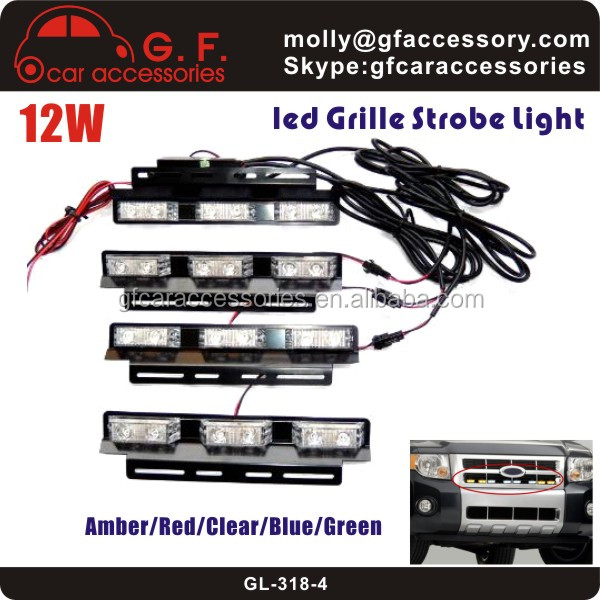 24 LED Emergency Vehicle Strobe Lights Bars Warning Deck Dash Grille Amber