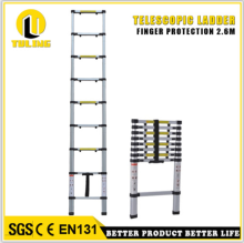 Finger-protection Straight Telescopic Ladder Aluminium portable folding ladderTL708-9