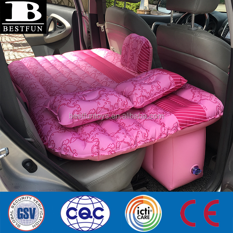 heavy duty fabric inflatable car bed for back seat durable adult car air mattress
