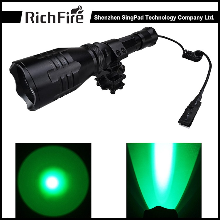 Aluminum alloy green hunting flashlight