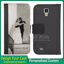 Customized leather flip cover case for Samsung Galaxy S2 S3 S4 sublimation printing
