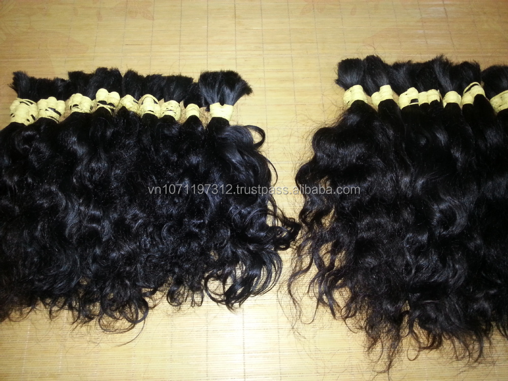 2016 BEST SELLING Factory price top quality double drawn hair bulk/weft hair 100% virgin Vietnam hair natural color 8-44 inch