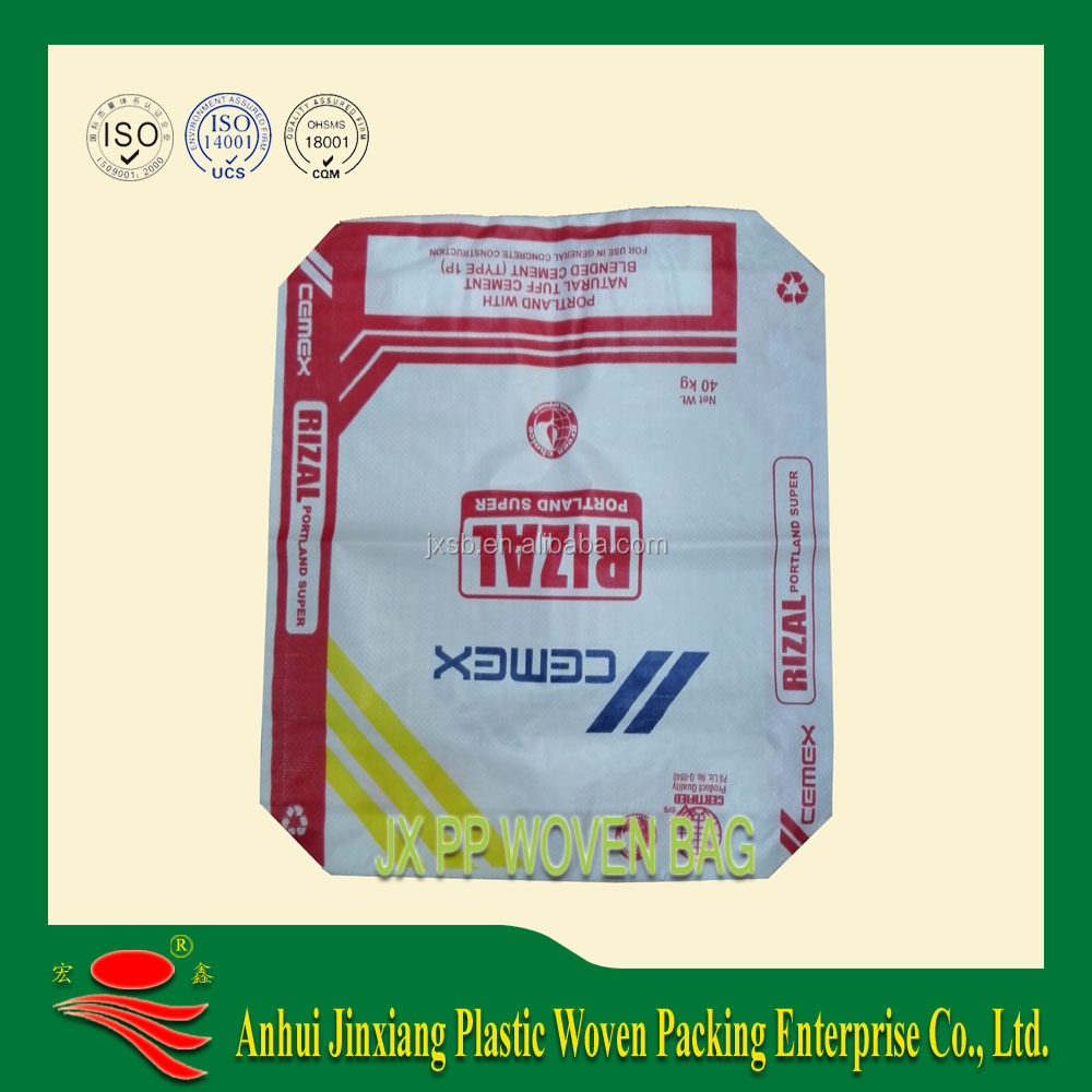 PP Material and Accept Custom Order cement bag eco friendly <strong>packing</strong>
