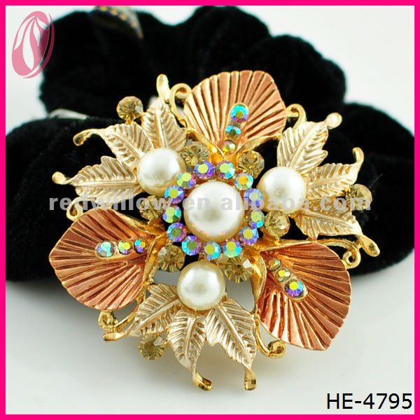 Artifical Flower Ponytail Holder, Hair Accessories