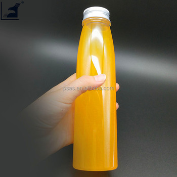 Disposable cold tea juice bottle with aluminum cover