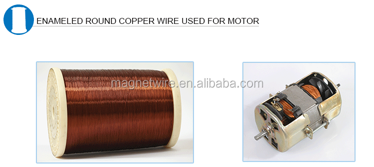 UL Approved 4.06 to 0.091 mm Winding H Class Round Enameled Copper Wire Price