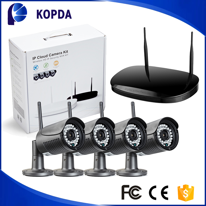 Hot sale outdoor wireless security bullet IP camera video recorder surveillance system