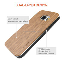 Blank wood material wooden PC mobile phone case for samsung s7
