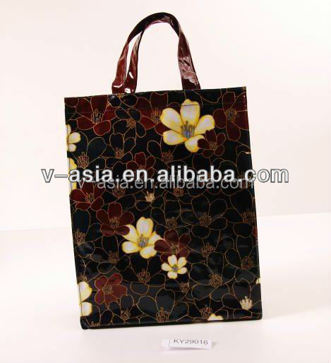 KY29016 100% cotton coated PVC shopping bag