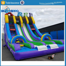 Multiple Lane Inflatable Slide with Climbing