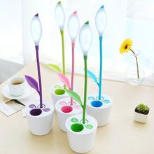 Eye Protection 3 Level Brightness USB Sapling Pot Plant Table Reading Lamp with Pen Holder