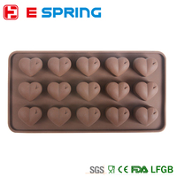 15 Holes Silicone Love Heart Cake Decor Mould Candy Cookies Chocolate Silicone human heart cake mold