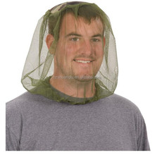 hot sale high quality army green 100 polyester mosquito head net
