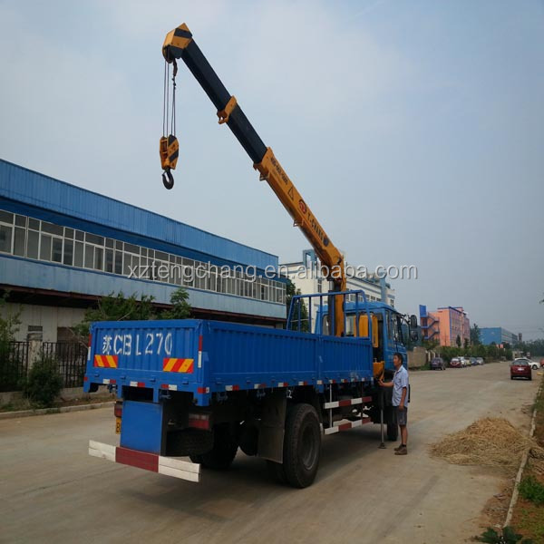 hot sale hydraulic crane 5ton electric pick up truck for sale