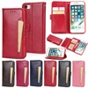 Free shipping Good Quality Newest Flip PU leather Wallet protective Cover Case For Iphone7,8