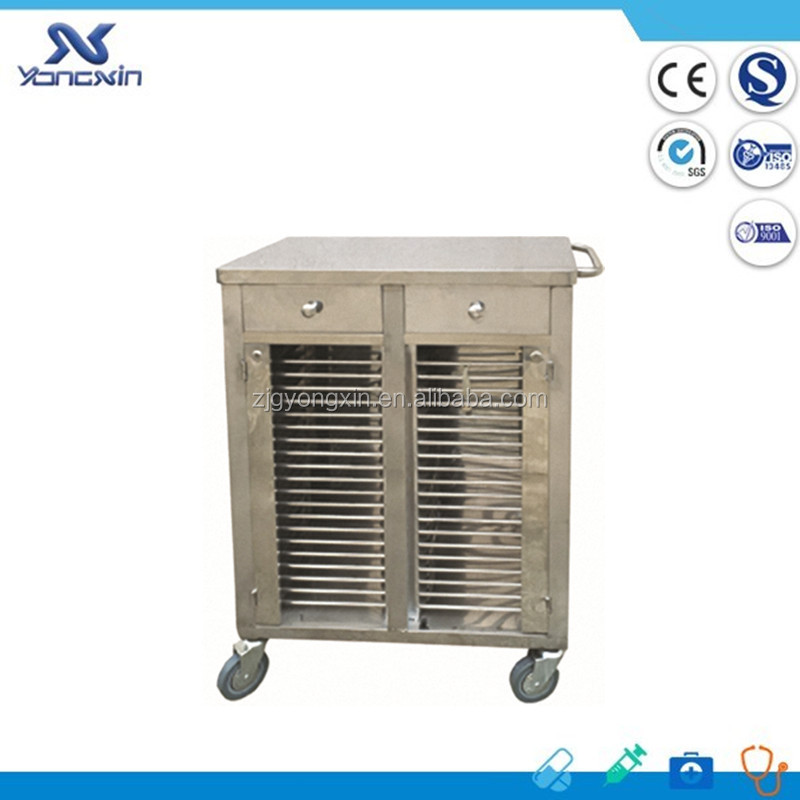 YXZ-A027 CE ISO Online Shopping Stainless Steel Patient Record Trolley Patient Record File Cart