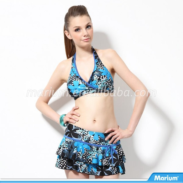 Open Sexy Hot Sex Beach Young Girl Photo 3 Piece Ladies Swimwear Bikini