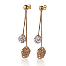 Drop crystal earring findings wholesale,earring with ball