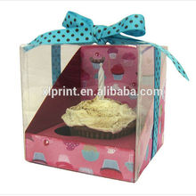 PVC case gift box packaging for wedding case /birthday cake