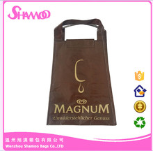 Small pp woven material wine cooler bag with velcro closure